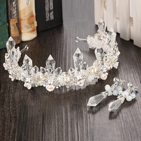 Handcrafts Earrings Crown Headwear Accessory Wedding Dress [8779897292]