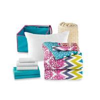 Get Started Riley 10-Piece Dorm Room Bedding Kit - Bed Bath & Beyond