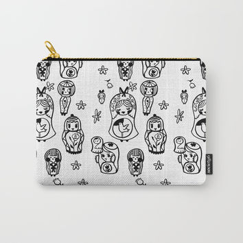 Babooshka Doodles Carry-All Pouch by Christina Siravo