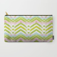 Spring Chevron Carry-All Pouch by ALLY COXON | Society6