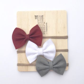 Bow Headband Set of 3