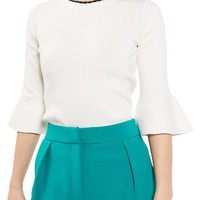 Topshop Scallop Neck Fluted Sweater | Nordstrom