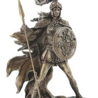 Athena Goddess of Wisdom and War Statue Bronze Finish 10.25H
