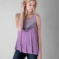 Gimmicks By BKE Back Lace-Up Tank Top