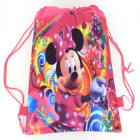 bow  Barbie Cartoon drawstring children's school bags, kids birthday party Favor, Mochila escolar, school kids backpack 55