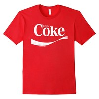 Coca-Cola Vintage Enjoy Coke White Logo Graphic T-Shirt