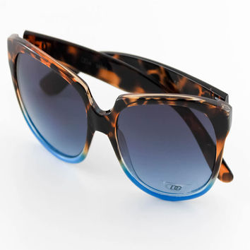 Gradient Blue Wayfarer Frame Sunglasses