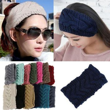 Shop Knitted Ear Warmer Headband With Flower On Wanelo