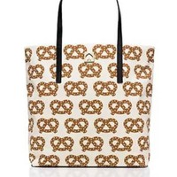Kate Spade Pretzel Tote Bag Large Canvas Purse