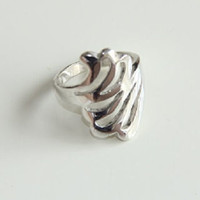 Alpaca Silver Wave Ring, Christmas Gift Ideas, Silver Jewellery,