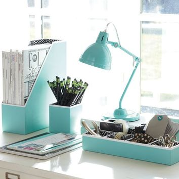 Preppy Paper Desk Accessories - Solid Pool