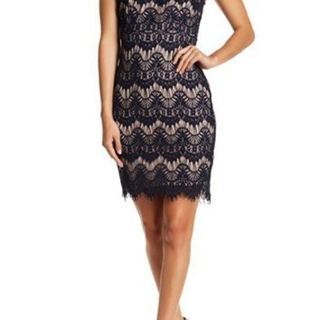 JUMP | Sleeveless Scallop Eyelash Lace Dress (Juniors) | Nordstrom Rack