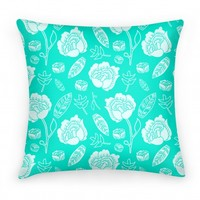 Floral and Leaves Pattern (Teal)