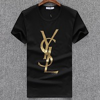 Yves Saint laurent  Men Fashion Casual Letter Print Shirt Top Tee