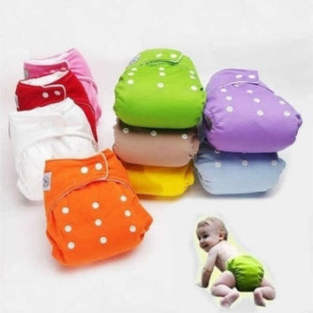 Reusable Baby Infant Nappy Cloth Diapers Soft Covers Washable Size Adjustable [8834016780]