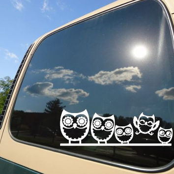 Owls  Car Decal Sticker