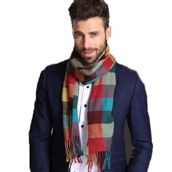 B51 woven stripe warm winter muffler mans unisex SCARF