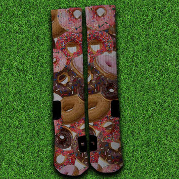 Donut Socks,Custom socks,Personalized socks,Elite socks