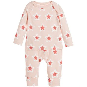 Stella McCartney Baby Girls Pink Stars Set