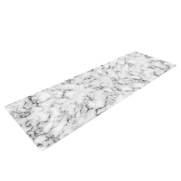 "Will Wild ""Marble"" White Gray Yoga Mat"