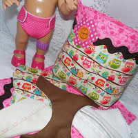 Baby Alive Diaper Bag Set with Reusable Waterproof Diapers Made Specifically to Fit Baby Alive Dolls