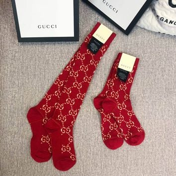 GUCCI GG Red Socks