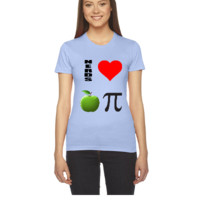 nerds love apple pi - Women's Tee