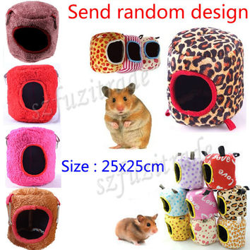 6 Sizes Hot Hammock Rat Hamster Ferret Rabbit Squirrel Hanging Fleece Bed Toy House Free Shipping PAA00001