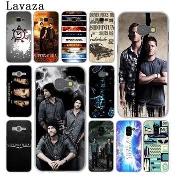 Lavaza Supernatural tv logo Hard Phone Case for Samsung Galaxy A5 A3 2015 2016 2017 A6 A8 Plus 2018 Note 9 8 Grand Prime Cover