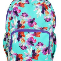 Canvas Backpack | Mint Floral