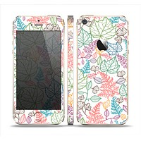 The Colorful Vector Leaves Skin Set for the Apple iPhone 5s