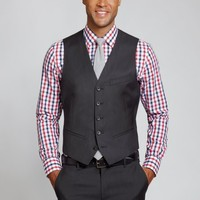 The Foundation Suit Vest - Charcoal