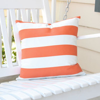Orange Outdoor Pillow Covers