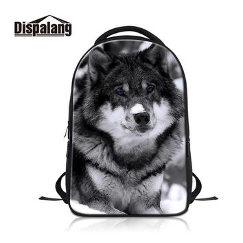 Cool Backpack school 3D Animal Wolf Backpack Mens Travel Shoulder Bags Large Capacity Laptop Bags For Teenagers Cool School Bag For College Students AT_52_3