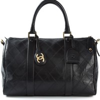 Chanel Vintage Quilted Boston Tote - A.n.g.e.l.o Vintage - Farfetch.com
