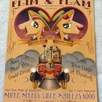 "MY LITTLE PONY FLIM & FLAM 12""x16"" Original Promo Poster SDCC 2014 Comic Con NEW"