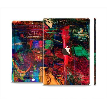 The Abstract Colorful Painted Surface Skin Set for the Apple iPad Air 2