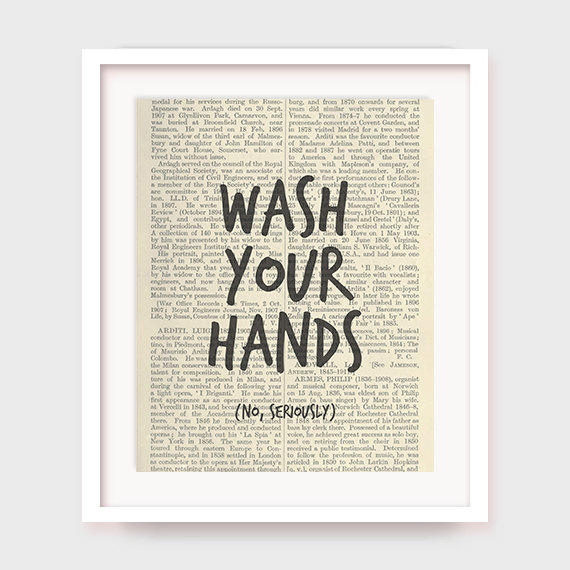 Funny Bathroom Art Print Wash Your From Myprintableart