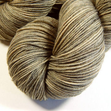 Hand Dyed Yarn - Sock Weight 4 Ply Superwash Merino Wool Yarn - Driftwood - Knitting Yarn, Sock Yarn, Wool Yarn, Tonal Yarn, Tan, Neutral