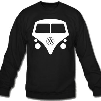 vw Split Window Kombi Sweatshirt Crew Neck