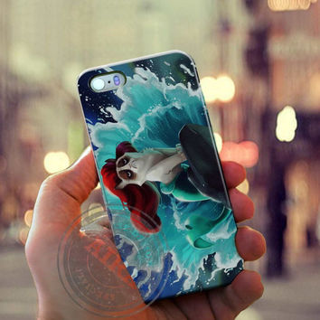 Little Mermaid Grumpy Cat Case for Iphone 4, 4s, Iphone 5, 5s, Iphone 5c, Samsung Galaxy S3, S4, S5, Galaxy Note 2, Note 3.