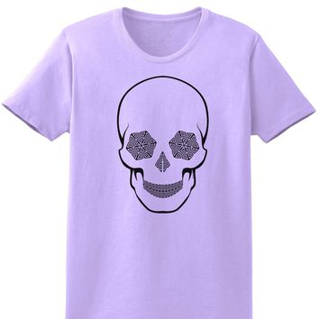 Hypno Skull Ladies Adult Womens Trippy T-Shirt