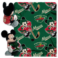 Minnesota Wild NHL Mickey Mouse with Throw Combo