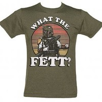 Men's Khaki What The Fett Star Wars T-Shirt : TruffleShuffle.com