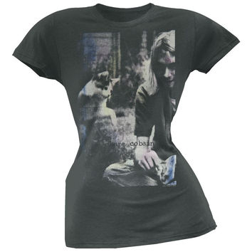 Kurt Cobain - Sepia Photo Juniors T-Shirt