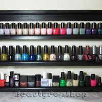 XL Dolly Nail Polish Rack in Black or White by BeautyPopShop