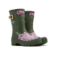 Molly Mid Height Welly Rain Boot in Grape Leaf Chinoise by Joules