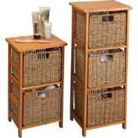 Buy 2 Drawer and 3 Drawer Storage Units - Natural Seagrass at Argos.co.uk - Your Online Shop for Bathroom shelves and units.