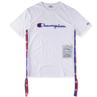 Champion & VETEMENTS 18ss Joint Studios Floating Couples Short Sleeve T-Shirt F0289-1 White
