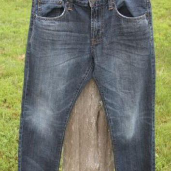 American Eagle Outfitters Slim Straight Blue Denim Jeans Men's Size 31W x 30L